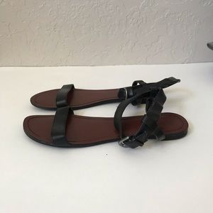 Mossimo black ankle sandals size 10